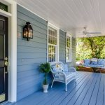 porch with upvc windows and panel door