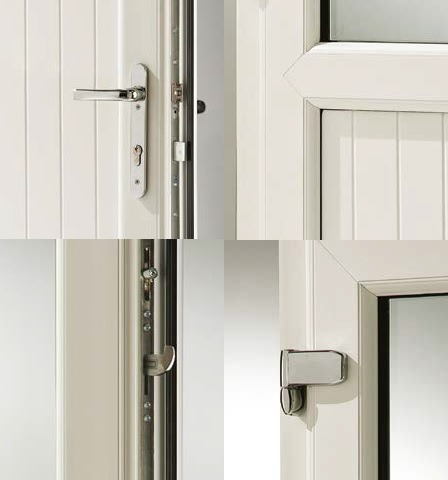 Panel door security features